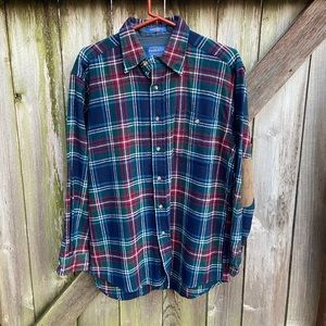 Pendleton Patched Elbow Wool Flannel LS Shirt